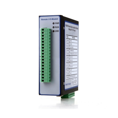 Modbus RTU I/O Module(16 bit 8-Ch Single End Analogue Input(or 4-ch Differential AI)+12bit 4-ch AI+2xDI+2xDO)