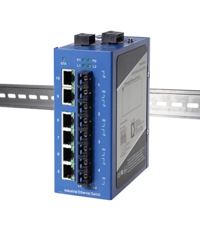 DIN-rail Managed Gigabit Industrial Ethernet Switches