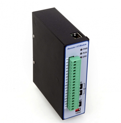 Modbus TCP I/O Module(16 bit 8-ch Single End Analogue Input(or 4xDifferential AI)+12bit 4-ch Analogue Input+2xDigital Input+2xDigital Output)
