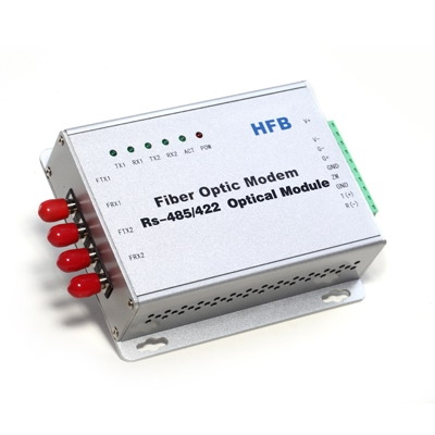 RS-485 Multi-Drop Bus Self-Healing Ring Fiber Optic Modem