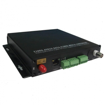 Video/Data/Dry Contact Closure to Fiber Optic Converter